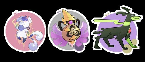 Pokemon a Day- Alt Forms: 141-143 by hydroflorix