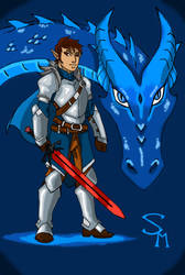 Eragon and Saphira by SkechMaster22