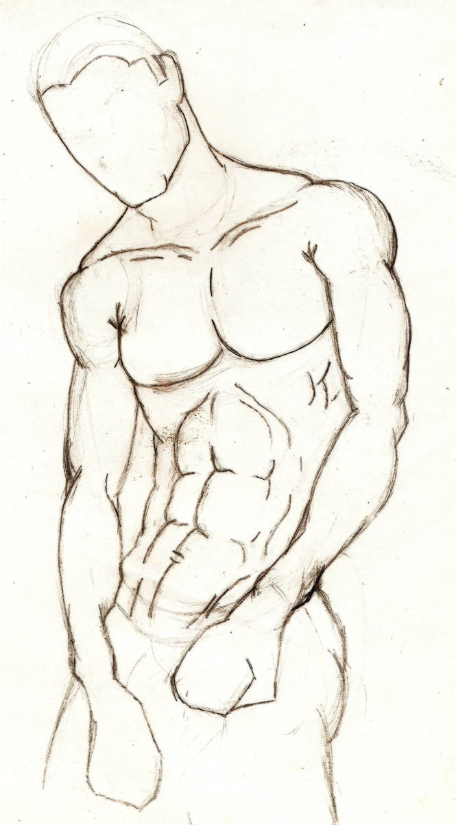 Male anatomy study2 by StickWilde