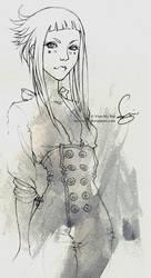 lady sketch. by vmbui