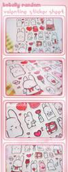 + Valentine Sticker Sheet + by RainCookie