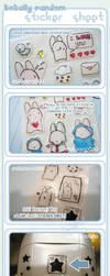 CLEAR + Embossed Sticker Sheet by RainCookie