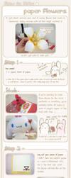 + Paper Flower tutorial + by RainCookie