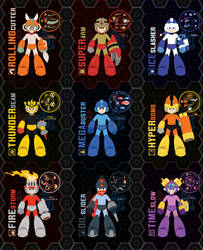 Mega Man 11 Weapon Get - All MM1 Weapons - by Availation