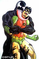Venom vs Robin Reverse bearhug by holybearhug