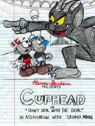 Hanna-Barbera style Cuphead poster by GrishamAnimation1