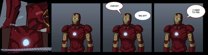 Iron Man Encounters A Problem by TheMinttu