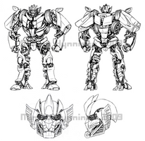 Sunstreaker Movie Concept WIP by TheMinttu