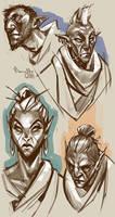 Morrowind natives by TheMinttu
