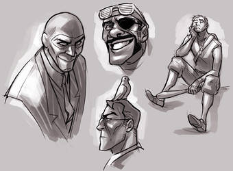TF2 doodles by TheMinttu