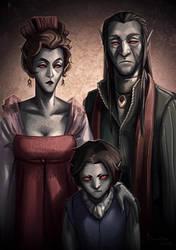 Savel family portrait by TheMinttu