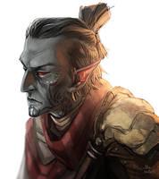 Morrowind Dunmer by TheMinttu