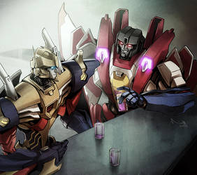 TF - Metalhawk and Starscream by TheMinttu