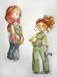 Girl 5 and 6 by Kiwi-Kwi