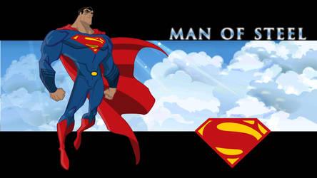 Man of Steel Cover by HBsuperman