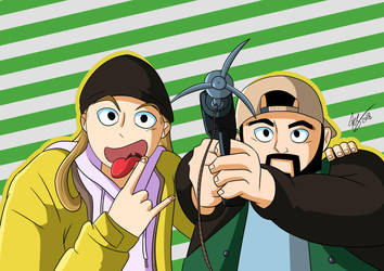 Jay and Silent Bob by CronoCain
