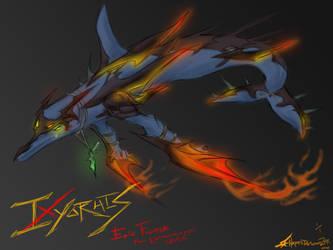 SPACE FIGHTER IXYORHIS by Hayatedragoon
