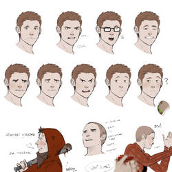 Stiles Makes Faces by Batwynn