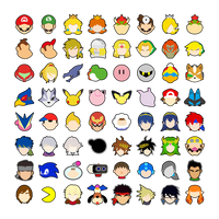 Super Smash Bros Ultimate stocks. by falconburst322