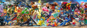 Switch Super Smash Bros Ultimate illustration 01 by falconburst322