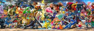 Super Smash Bros  Ultimate fighter walllpaper 2 by falconburst322