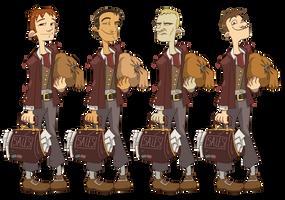 Zork- Male Hero 1 Designs by Zubby