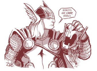 Thor and Ultron are Friends... by Zubby