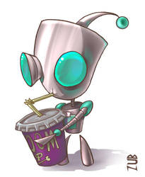 Zim- Thirsty Gir by Zubby