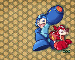 Mega Man Tribute - Wallpaper by Zubby