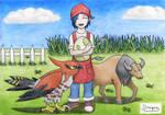 [Art Trade with Destiny] Pokemon Breeder by DanTheElementary