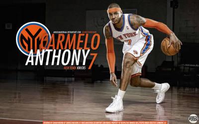 Carmelo Anthony Knicks Wall by IshaanMishra