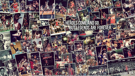 Michael Jordan Legend Wall by IshaanMishra