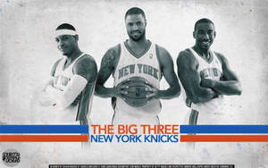 New York Knicks Big Three Wallpaper by IshaanMishra