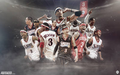 Allen Iverson Sixers Forever Wallpaper by IshaanMishra