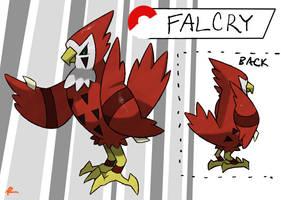 Desert Falcon Fakemon by TRspicy