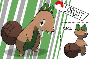 Baby Squirrel  Fakemon by TRspicy