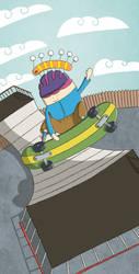 Skateboarding by moopf