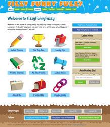 Fizzy Funny Fuzzy Poetry Website Design by moopf