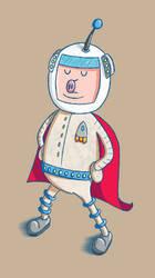 Super Spaceman Pigsworth - Test Illustration by moopf