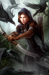 DAI Nightingale by CrystalGrazianoArt