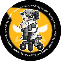 Dr. Stein Chibi Badge by RedPawDesigns