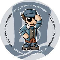 Future Luke Chibi Badge by RedPawDesigns