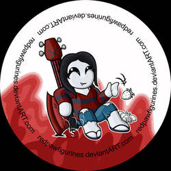 Marceline Chibi Badge by RedPawDesigns