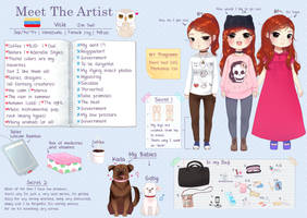 Meet the artist :. by Vicle-chan