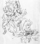 Tetsuko - Early sketches by DavidCMatthews