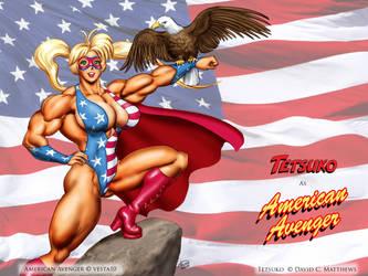 Tetsuko as 'American Avenger' by DavidCMatthews