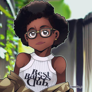 CuteBlackGirl2 by Desinho