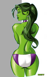 She-Hulk's Bum - Colors by scupbucket