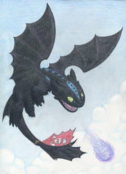 HTTYD2 Alpha Toothless Commission by Oddstuffs