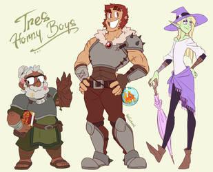 Tres Horny Boys by KelCasual